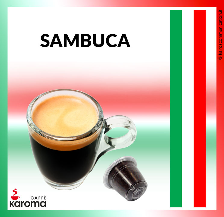 Coffee capsules sambuca_karomacaffè